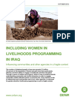 Including Women in Livelihoods Programming in Iraq