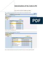 Automatic Determination of Tax Code in PO