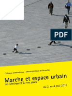 Marche et espace urbain de l'Antiquité à nos jours