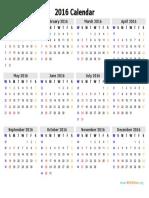 2016 Calendar Template 05