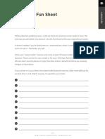 3. Copywriting Fun Sheet