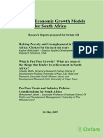 Pro-Poor Economic Growth Models for South Africa
