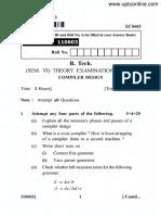 Ecs-603 Compiler Design i 2014-15