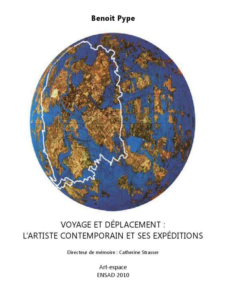 VOYAGE ET DÉPLACEMENT  L'ARTISTE CONTEMPORAIN ET SES EXPÉDITIONS ...