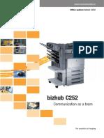 Km Bizhub c252 Brochure Final