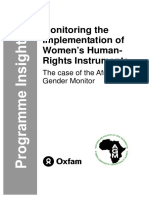 Monitoring the Implementation of Women's Human-Rights Instruments