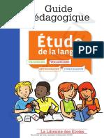Guide Pédagogique Français Étude de La Langue CE1