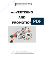 Advertising & Promotion Dissertation Sample