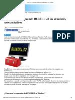 Como Usar El Comando RUNDLL32