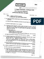 Electrical Machine Design( Question paper.pdf