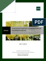 Guia Estudio Hacienda Pública Grado Derecho Parte 2ª Curso 2011-12
