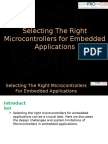 How to Choose the Right Microcontrollers For Your Embedded Projects