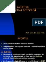 Curs 6 OG - Avortul. Sarcina Ectopica