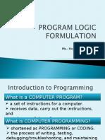 1_Program Logic Formulation