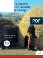 Rethinking Support for Adaptive Capacity to Climate Change