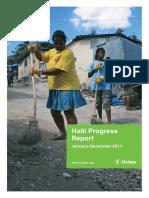Haiti Progress Report