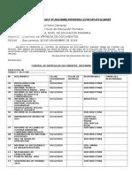 Control de Entrega de Documentos Diciembre