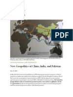New Geopolitics of China, India, and Pakistan May 26, 2016 In