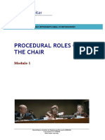 Module 1-Procedural Roles of the Chair