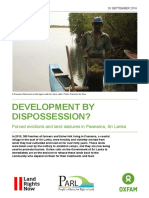 Development by Dispossession? Forced evictions and land seizures in Paanama, Sri Lanka