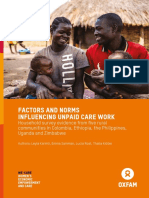 Factors and Norms Influencing Unpaid Care Work