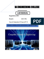 Cs6413 Operating Systems Laboratory