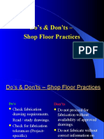 do's and dont's shop floor practices