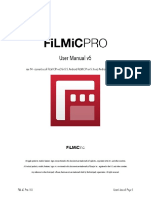 Filmic Full User Manual | I Phone | Exposure (Photography)