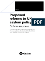 Proposed Reforms to UK Asylum Policy