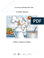 MÓDULO - Higiene e Segurança Alimentar.