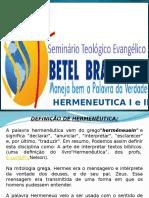 Hermeneutica Betel  1 e 2