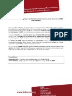 CDP REFUS de La Hausse Des Frais d'Inscription