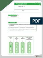 Prueba sabe 2- Lenguaje 9.pdf