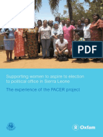 Supporting Women to Aspire to Election to Political Office in Sierra Leone