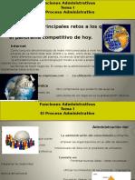 Administración II - Tema I - El Proceso Administrativo.
