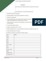 Freedom Struggle of India-Revision Worksheet