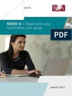 Mifid II Application Notification Guide