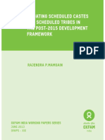 Situating Scheduled Castes and Scheduled Tribes in the Post-2015 Development Framework