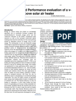 Fabrication and Performance Evaluation of a v Groove Solar Air Heater