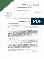 Danforth (London) Ltd. - Statement of Claim