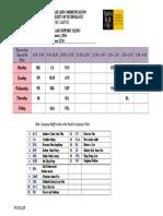 Timetable.english Language Clinic. Sem1.2014