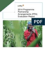 2014 Programme Partnership Arrangements (PPA) Evaluation Report
