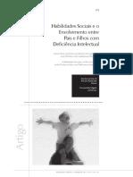 Habilidades Sociais e o Envolvimento Entre Pais e Filhos Com Deficiência Intelectual