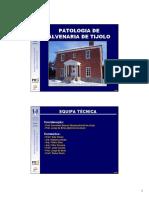 8.2 Patologia Alvenaria Tijolo