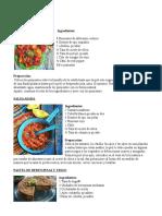 Recetas de Jaqueline Henriquez-Vegetales