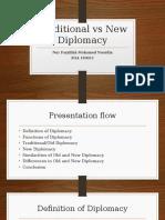 Traditional vs New Diplomacy