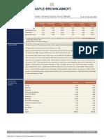 Maple BrownAbbott Australian Geared Equity Fund Factsheet Retail