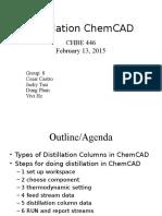 Distillation Chemcad