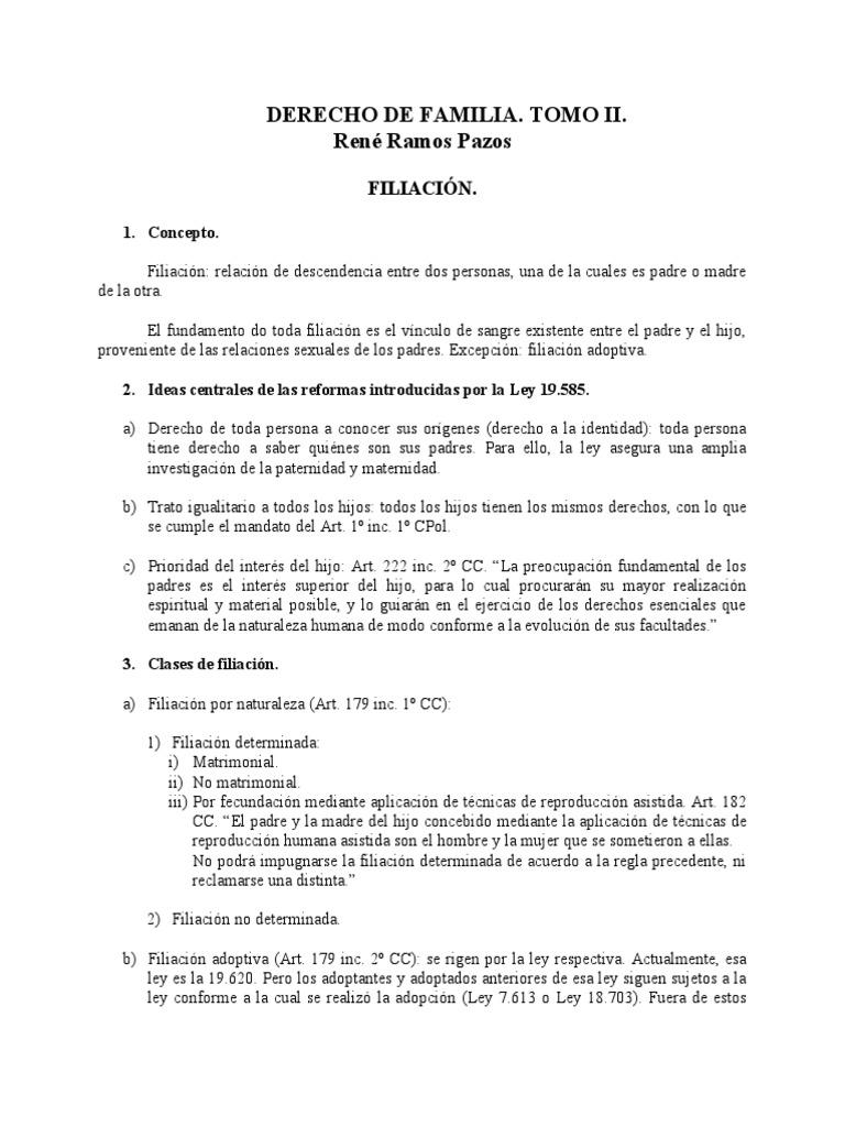 Derecho de familia filiaci n for Derecho de paternidad