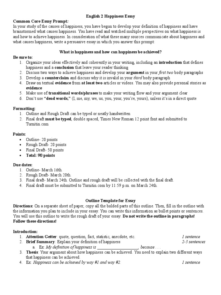 rough draft outline template rough draft of an essay creative english 2 happiness essay essays argument